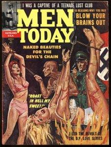 Men Today Mar/1962-Nazis roast women alive-INSANE cover!