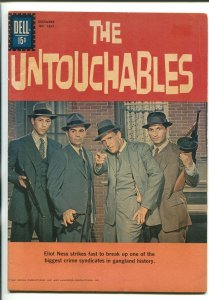THE UNTOUCHABLES #1237 1961-DELL-ROBERT STACK TV COVER-15¢ COVER PRICE-vg/fn