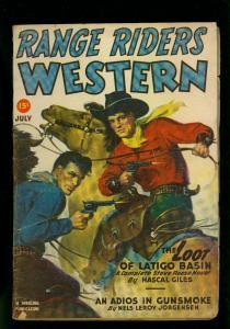 Range Riders Western Pulp July 1949- Steve Reese- VG