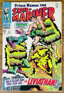 1968 SUB-MARINER #3 Marvel Comics Triton Plantman PRINCE NAMOR Comic Book