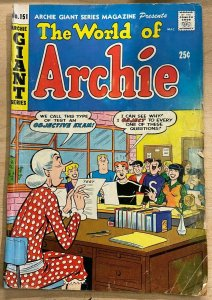 ARCHIE GIANT SERIES #151 (Archie, 2/1968) GOOD (G) Dan DeCarlo, Lil Jinx
