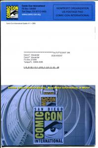 San Diego Comic Con Update #1 2005-Will Eisner-Spirit-NM