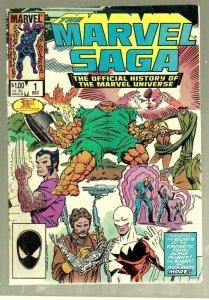 MARVEL SAGA #1, VF, Wolverine, Universe, 1985, more Marvel in store