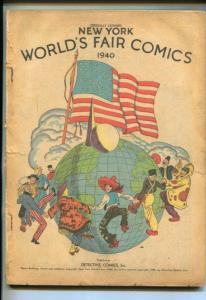 NEW YORK WORLD'S FAIR -1940-SUPERMAN-BATMAN-HOURMAN-SANDMAN--pr/fr