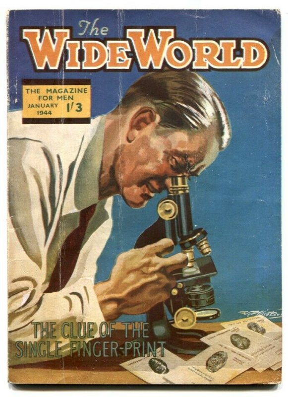 The Wide World Pulp January 1944-Clue of the Single Fingerprint