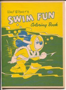 Walt Disney's Swim Fun Coloring Book-Mickey Mouse 1957-Whitman-VF/NM