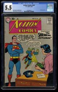 Action Comics #245 CGC FN- 5.5 Cream To Off White DC Comics DC Superman