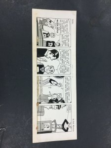 Bob Montana Original Archie Comic Strip 5/26/53,Archie.Betty,Reggie,Jughead