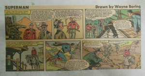 Superman Sunday Page #947 by Wayne Boring from 12/22/1957 Size ~7.5 x 15 inches