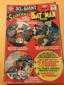 80 Page Giant #15 SUPERMAN & BATMAN : DC 1965 Gd-; classic