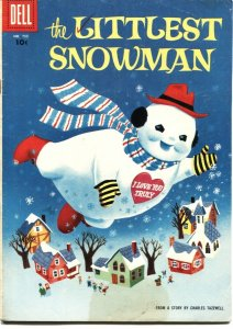 THE LITTLEST SNOWMAN-DELL FOUR COLOR #755-CHARLES TAZEWELL STORY-1956