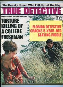 TRUE DETECTIVE February 1968-TORTURE-KILLING-VIOLENT DEATH-DOUBLE MURDER FN
