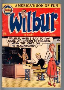 WILBUR COMICS #29-KATY KEEN PIN-UP-PIN UP POSES-1950-GOLF-VAMPIRE BAT STO VG