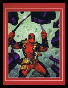 X Men Deadpool Framed 11x14 Marvel Masterpieces Poster Display
