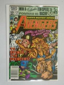 Avengers #216 featuring Silver Surfer Newsstand 8.0 VF (1981 1st Series)