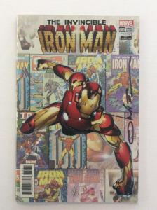 INVINCIBLE IRON MAN #600 - Variant Signed by Cover Artist Olivier Coipel w/COA