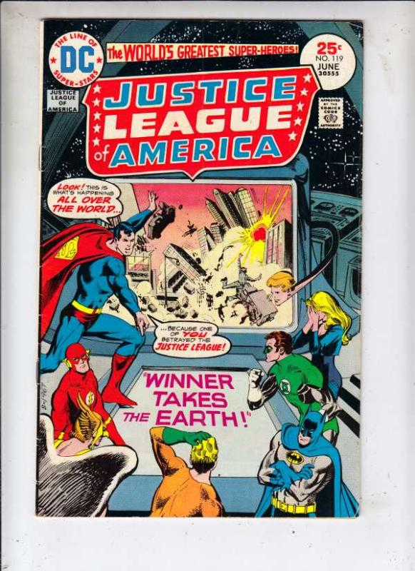Justice League of America #119 (Jul-75) FN/VF Mid-High-Grade Justice League o...