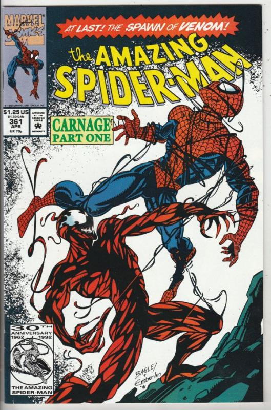 Amazing Spider-Man #361 (Apr-92) NM Super-High-Grade Spider-Man