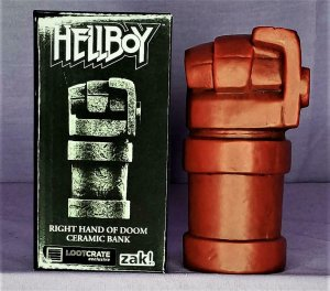 Loot Crate Exclusive HELLBOY Right Hand of Doom Ceramic Coin Bank (Zak!)!