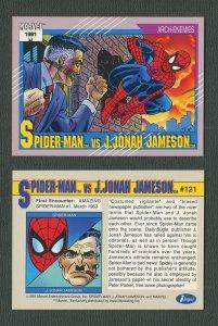 1991 Marvel Comics II  Card  #121 ( Spiderman vs JJ Jameson)  MINT
