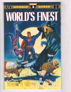 World's Finest (1990 Ltd Series) Worlds Apart #3DC Comic Book Superman HH4 AD38