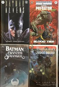 BATMAN DC VS PREDATOR 3,ALIENS,PHANTOM STRANGER,JUDGE DREDD TRADE PAPERBACK NM
