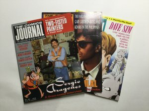 Comics Journal 128-130 Magazine Lot Very Fine Vf 8.0 Pacific Comics