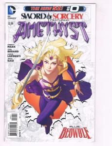 Lot Of 3 Sword Of Sorcery DC Comic Books # 0 1 4 NEW 52 Amethyst Beowulf J72