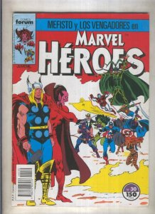 Marvel Heroes numero 30: Mefisto y Los Vengadores (numerado 2 en trasera)