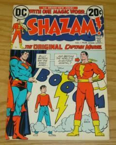 Shazam! #1 VG/FN Origin of Captain Marvel (Golden Age) - Billy Batson - DC 1973