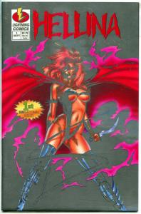 HELLINA #1, VF/NM, Platinum edition, COA, Lightning, Good Girl, 1994