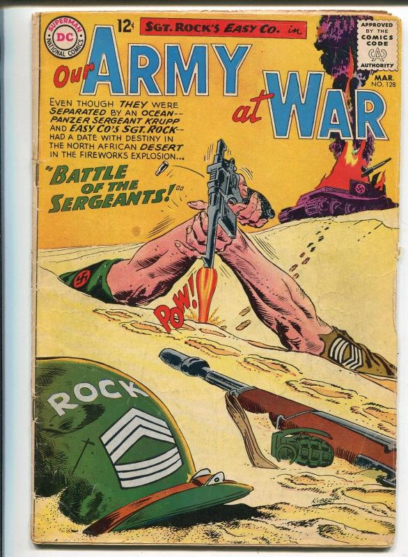 Our Army at War #128 1963-DC- Sgt Rock origin story-Joe Kubert art-VG MINUS