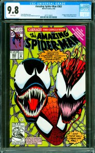 Amazing Spider-Man #363 CGC Graded 9.8 Carnage, Human Torch & Mister Fantasti...