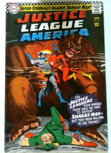 Justice League of America #45 DC 1966 FN/VF Key1st Appearance Shaggy Man Comic