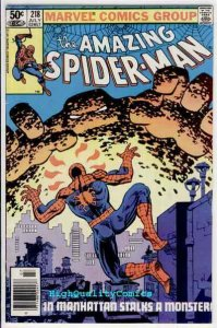 Amazing SPIDER-MAN #218, FN+, Frank Miller, Romita,1963, more ASM in store