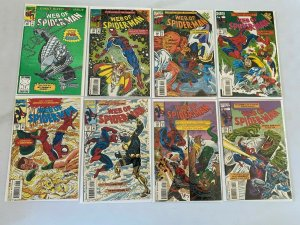 Web of Spider-Man lot 25 different from #100-129 avg 8.0 VF (1993-95 1st Series)