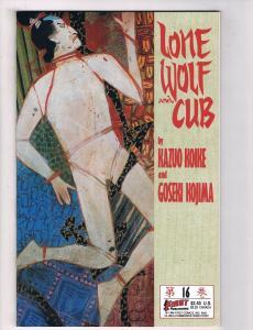 Lone Wolf & Cub #16 FN/VF First Comics Comic Book Koike Kojima Jan 1987 DE36