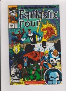 FANTASTIC FOUR #349 VF/NM NEW FF 1991 MARVEL COMICS ARTHUR ADAMS ARTWORK