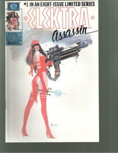Elektra: Assassin #1,2(HITLER COVER)(1986) UNREAD NM+++
