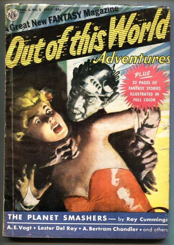 OUT OF THIS WORLD ADVENTURES 1950 JUL-#1-PULP W/ COMICS - VG