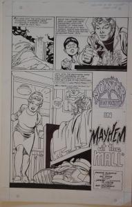 GIL KANE original art, MONSTER IN MY POCKET #4, 11x17,1991, Mayhem at the Mall