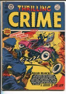 THRILLING CRIME #48-1952-STAR-L B COLE-TOMMY GUN-GUN MOLL-BRUTAL-vg+