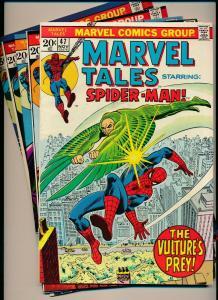 Marvel LOT of 5-MARVEL TALES starring SPIDER-MAN! #47-51 1973  VG/F(PF823)