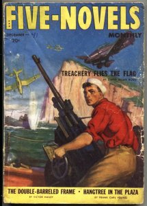 FIVE NOVELS MONTHLY-DEC 1941---ADVENTURE-PULP-AIR WAR COVER--WW II
