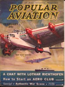 Popular Aviation 2/1933-giant Junkers plane-H.R. Bollin-Von Richthofen-VG