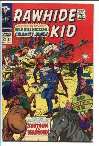 RAWHIDE KID-#61-1967-MARVEL-WILD BILL HICKOK-CALAMITY JANE-vf minus