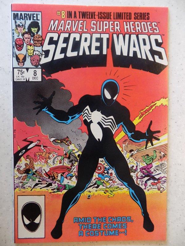MARVEL SECRET WARS # 8 ORIGIN BLACK COSTUME HI GRADE SUPER NICE LOOK AT PICS