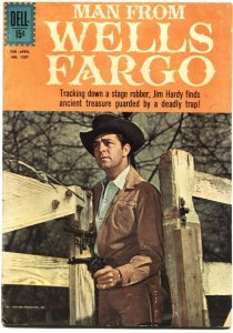 MAN FROM WELLS FARGO-DELL FOUR COLOR #1287-DALE ROBERTSON-1962TV PHOTO CVR-