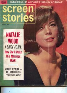 Screen Stories-Natalie Wood-Richard Burton-Peter O'Toole-April-1964