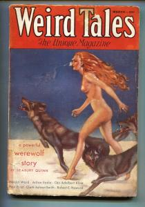 Weird Tales 3/1933-Horror-3rd CONAN story-Pulp Magazine